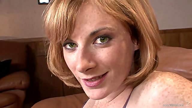 Redheaded Cougar Gets an Interracial Creampie