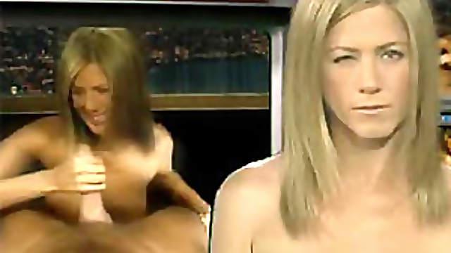 Jennifer Aniston and Cameron Diaz Stroking Cocks in Celebrity Porn Video