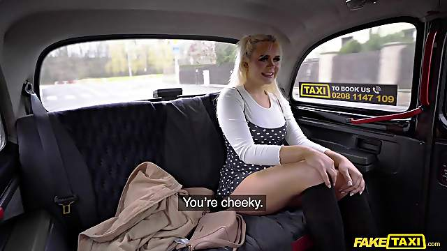Wild fucking in the back of the fake taxi with sexy Gina Varney