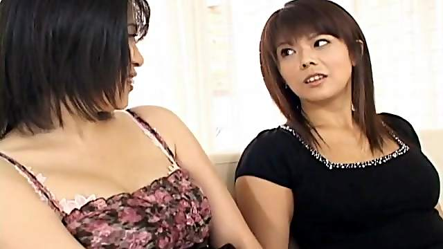 Nice tits Japanese babe gets her pussy licked by horny Ami Hajo