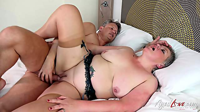 Sensual cock sucking and licking provided by horny mature lady