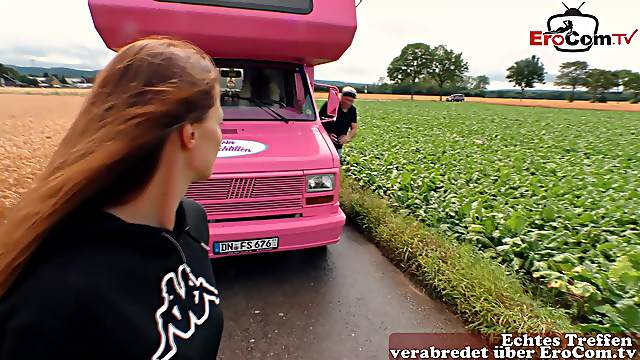 German housewife pick up fuck in car