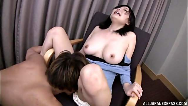 Japanese wife spreads her legs to be fingered and fucked deep