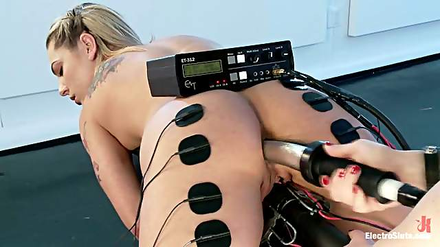 Electro Torture and Toying in Lesbina Femdom for Bailey Blue