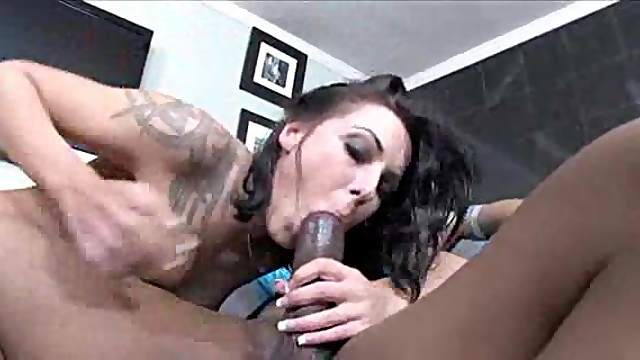 Anal sex and footjob with a black guy