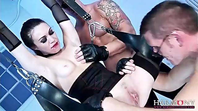 Kinky anal sex with slut in gloves and lingerie