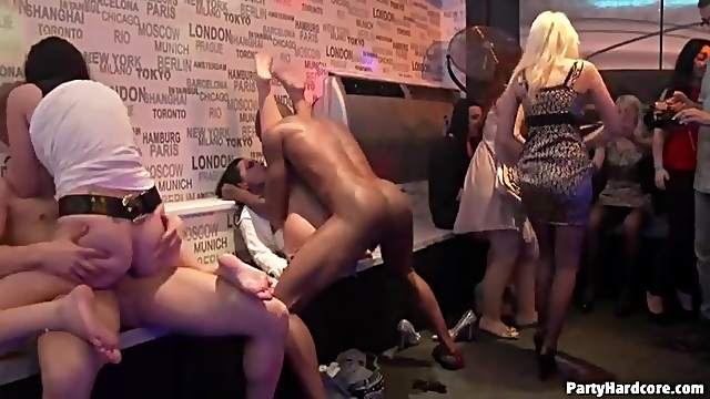 Crazy sluts in the club sucking dick and fucking