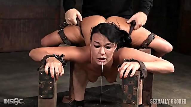 Kinky BDSM fucking of a slut in bondage