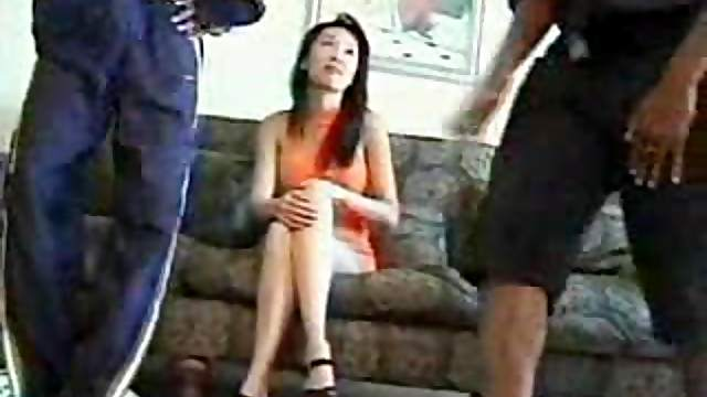 Slut in a tight dress likes black cock