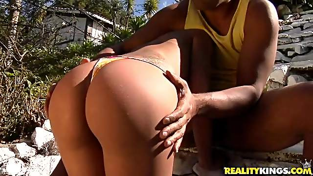 Victoria Venturini rides a fat cock after sucking it hungrily