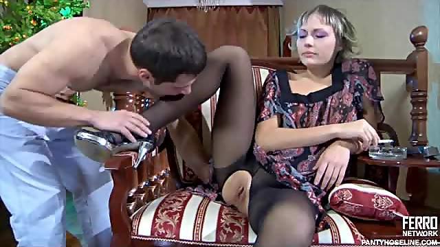 Kinky Teen Fucks in Her Sexy Pantyhose