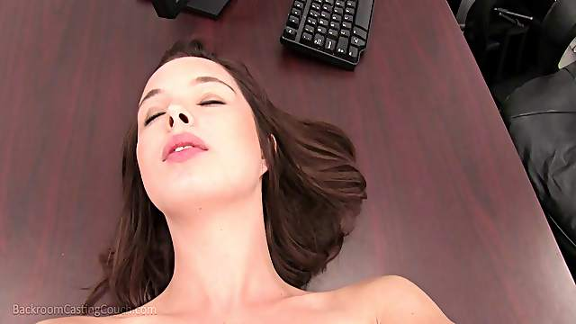 Barely legal Aeris opens her legs for a throbbing love tool