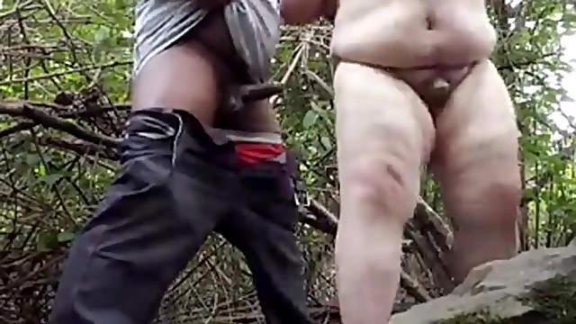 A Black black take gay black me me in the Woods