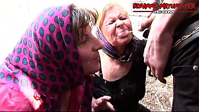 Fucked two grandmothers and piss on them