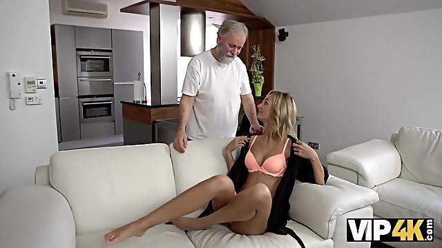Tender miss and her caring mature gentleman have sex