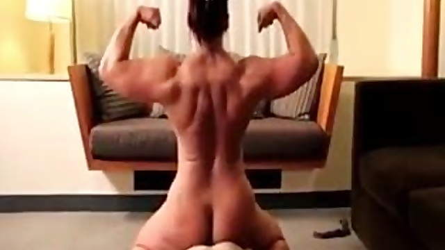 Muscular woman hard domination