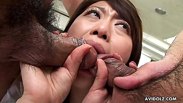Japanese office lady, Hina Aizawa likes DP, uncensored