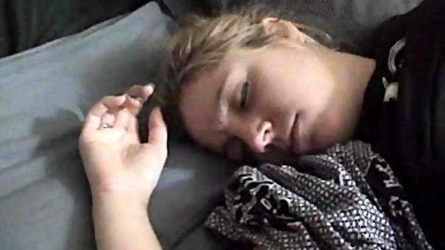 Sexy babe sleeping before getting her cunt banged with cock