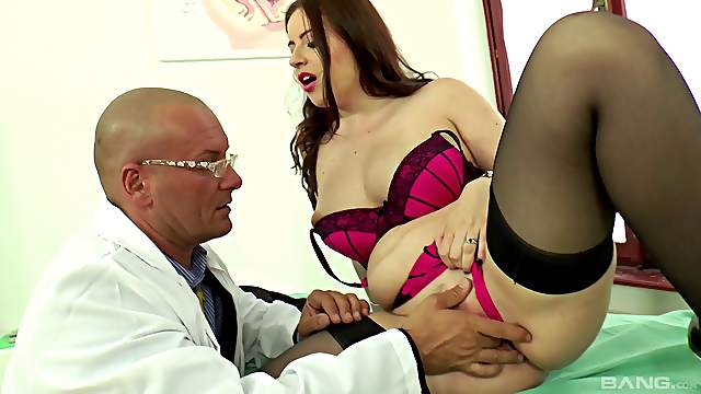 Boning a stunning brunette with big tits Lexie Candy