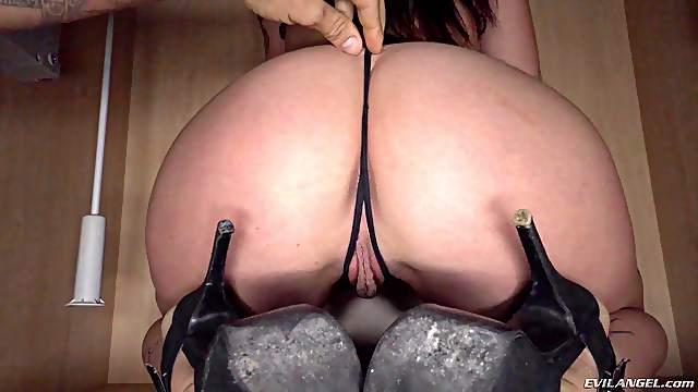 Joana Rios bend over having her anal ravished hardcore