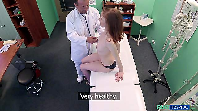 Doctor puts his giant dick in tight pussy of horny Nela - Spy cam