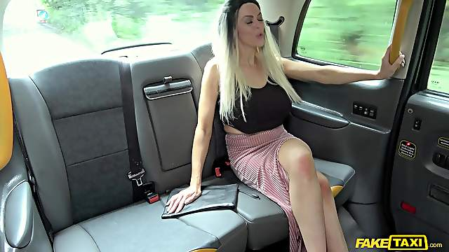 Black taxi driver slides his large cock in wet pussy of Jess Scotland