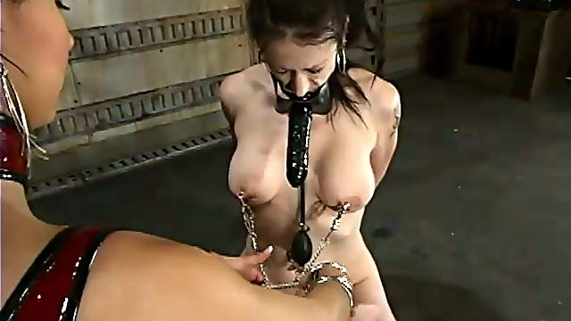 Moxxie Maddron gets chained and fucked by Isis Love