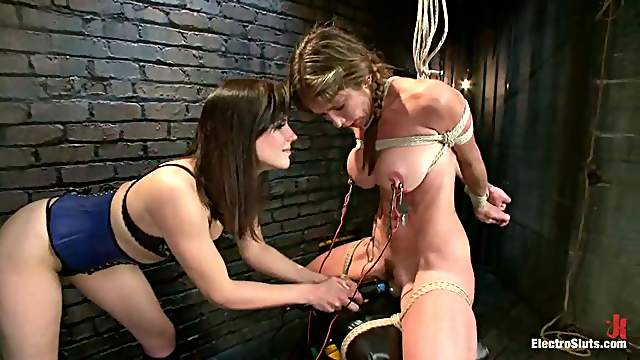 Sybian Ride by Felony During Electrical Torture Session by Bobbi Starr