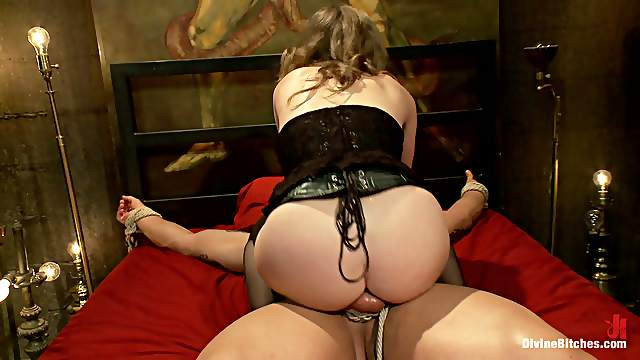 Tied down and ramming her ass xxx sex photos