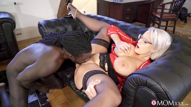 Black dude offers this MILF the fuck of her life