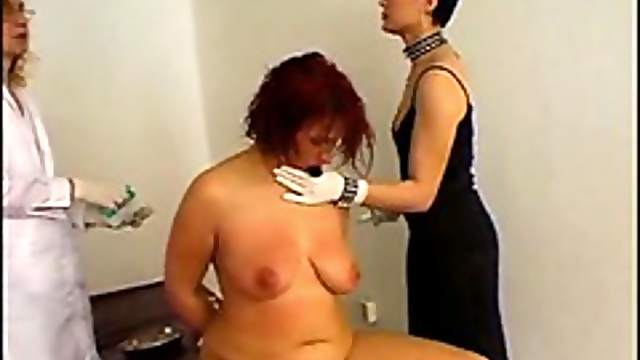 Fat girl experiencing medical pain