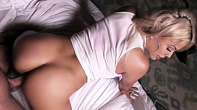 Big boobs blondie delights with stiff cock in her wet ass