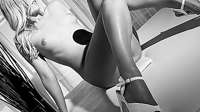Erotic black and white play