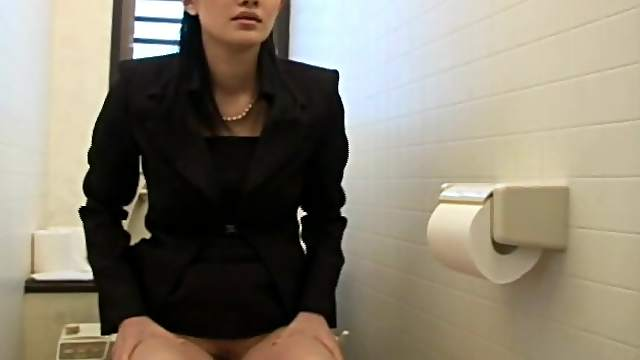 Asian chick in lusty pantyhose solo