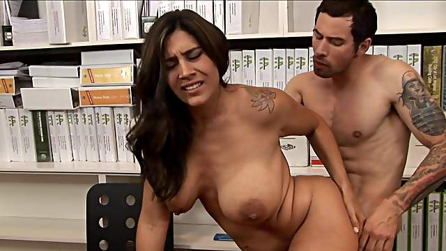 Office cougar drilled by he boss