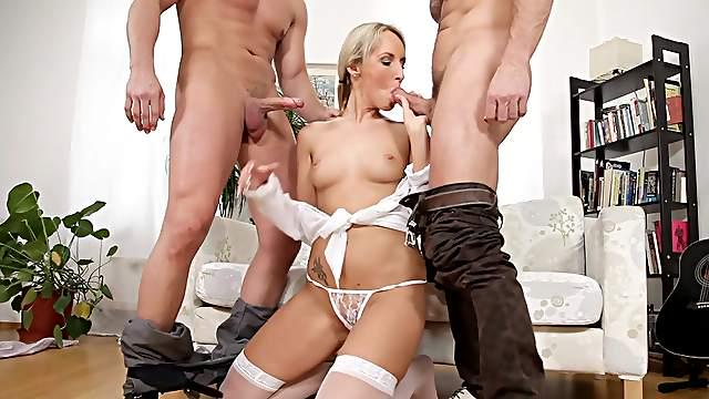 Milf from Doghouse Digital in harsh threesome