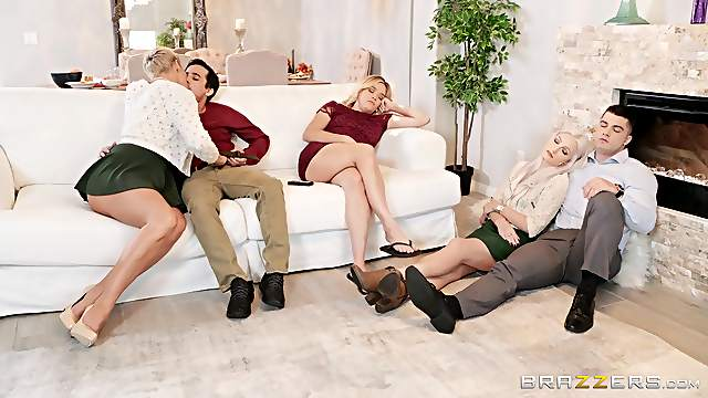 Big ass mature suits her sexual needs during a home orgy