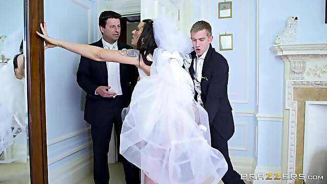 Man's steel inches suit the bride one last time before she gets married